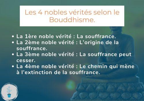 Quelles sont les 4 nobles vérités du Bouddhisme ?