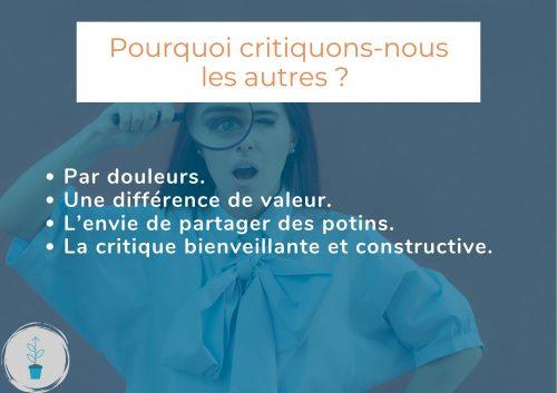 Pourquoi critiquons-nous les autres ? Et comment y remédier | Image de mise en avant de l'article.