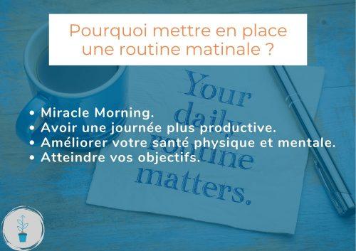 Comment mettre en place une routine matinale ? Voyons ensemble comment la mettre en place grâce au livre miracle morning.